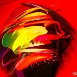 Adam Neate - Red Dimensional Portrait