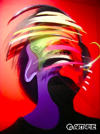 Adam Neate - Red Dimensional Portrait