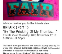 Unfair at Whisper gallery