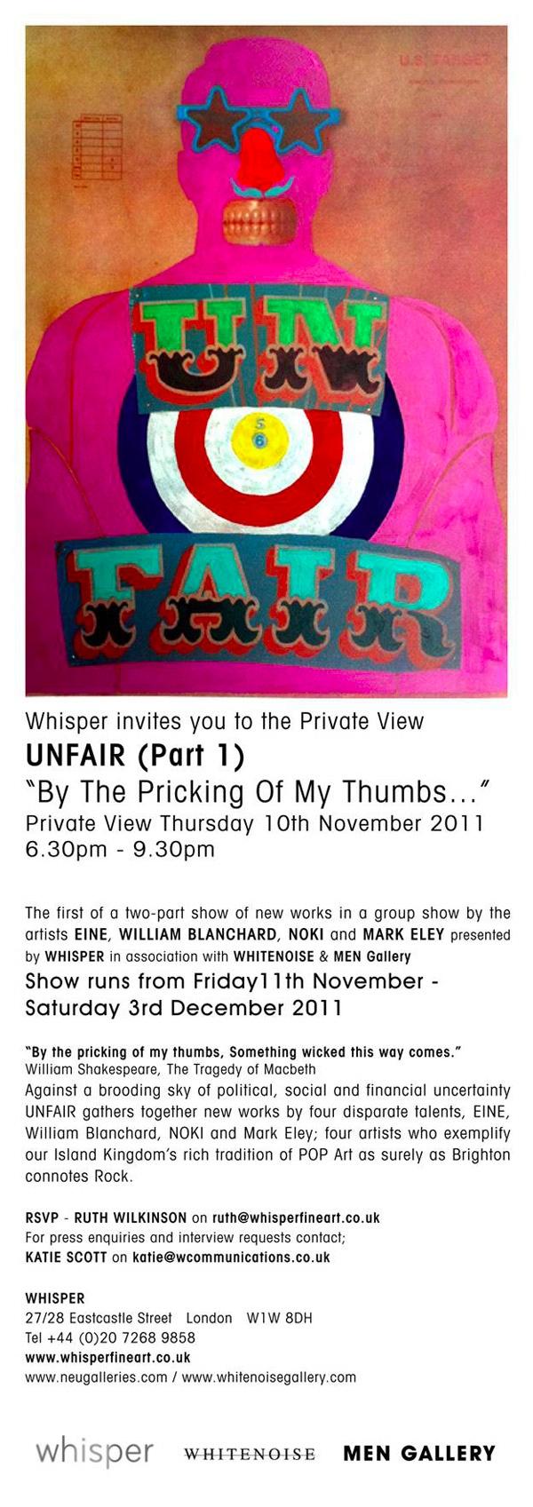 Unfair at Whisper gallery