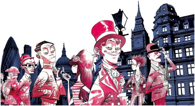 Character Design London : Absolut limited edition london bottle by jamie hewlett