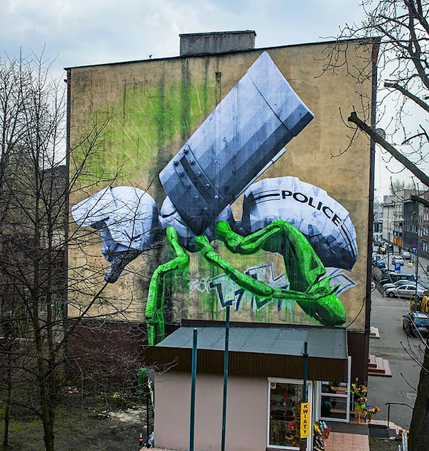 LUDO piece at Katowice street art festival