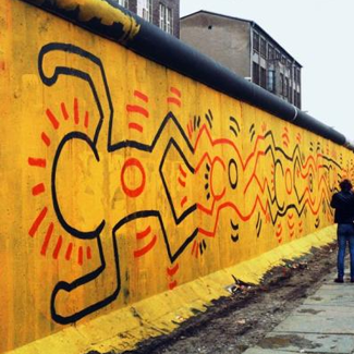 Keith Harring work on the Berlin Wall