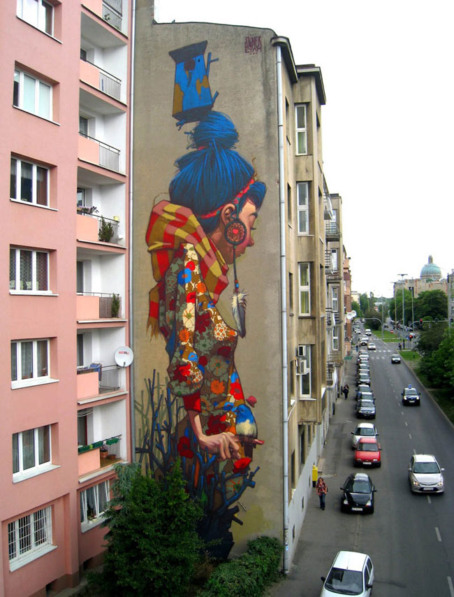 Sainer and Etam crew mural in Poland
