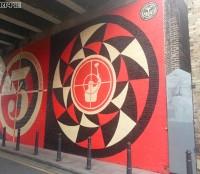 Sheperd Fairey's mural on Bateman's row | Art-Pie