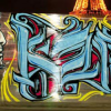 Cellophane on graffiti by CelloGraph | Art-Pie