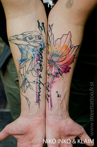 Watercolour tattoos | Art-Pie