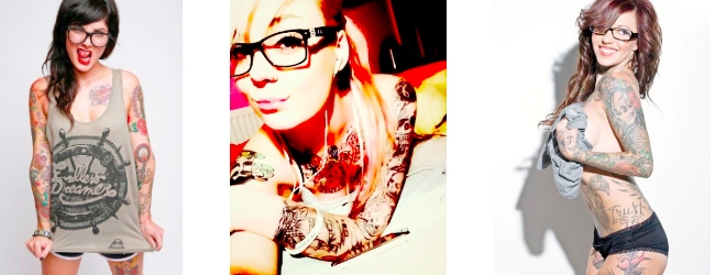 Girls, glasses and tattoos | Art-Pie