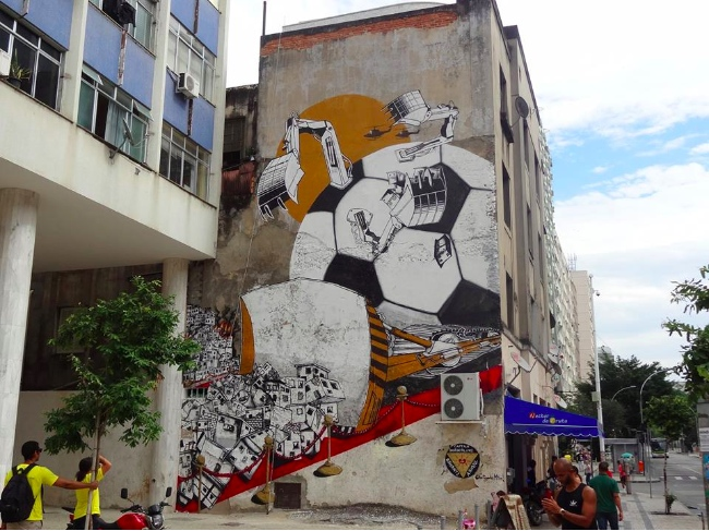 Anti Copa Mural Project organized by Colorrevolution and Amnesty International | Art-Pie