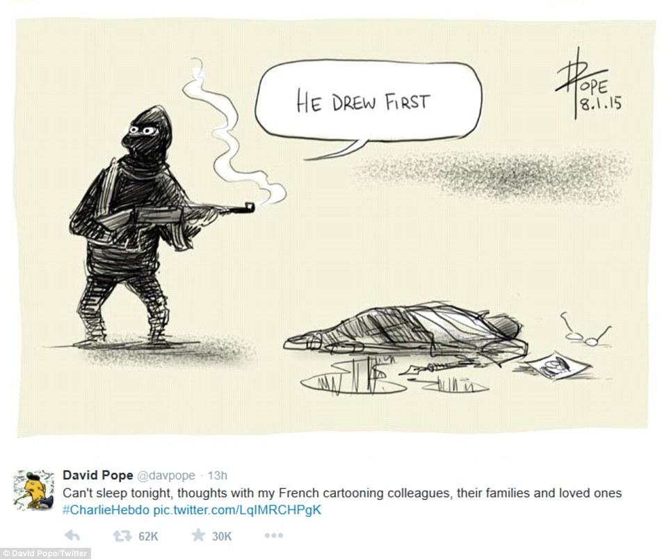 Dave Pope - #JeSuisCharlie| Art-Pie