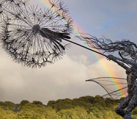Robin Wight & his fairies wires sculptures | Art-Pie