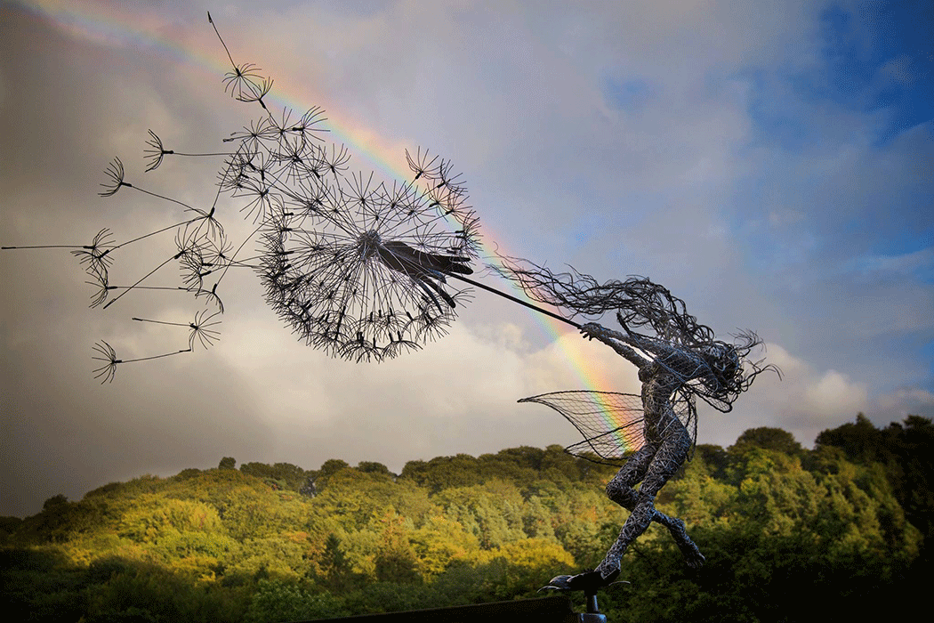 fairies wires sculpture by robin wight