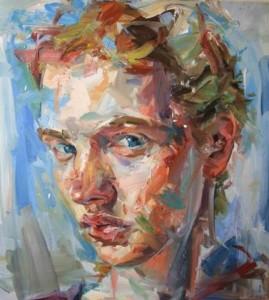 Paul Wright | Wild Fire | Oil on linen | 43'' x 39'' | Art-Pie