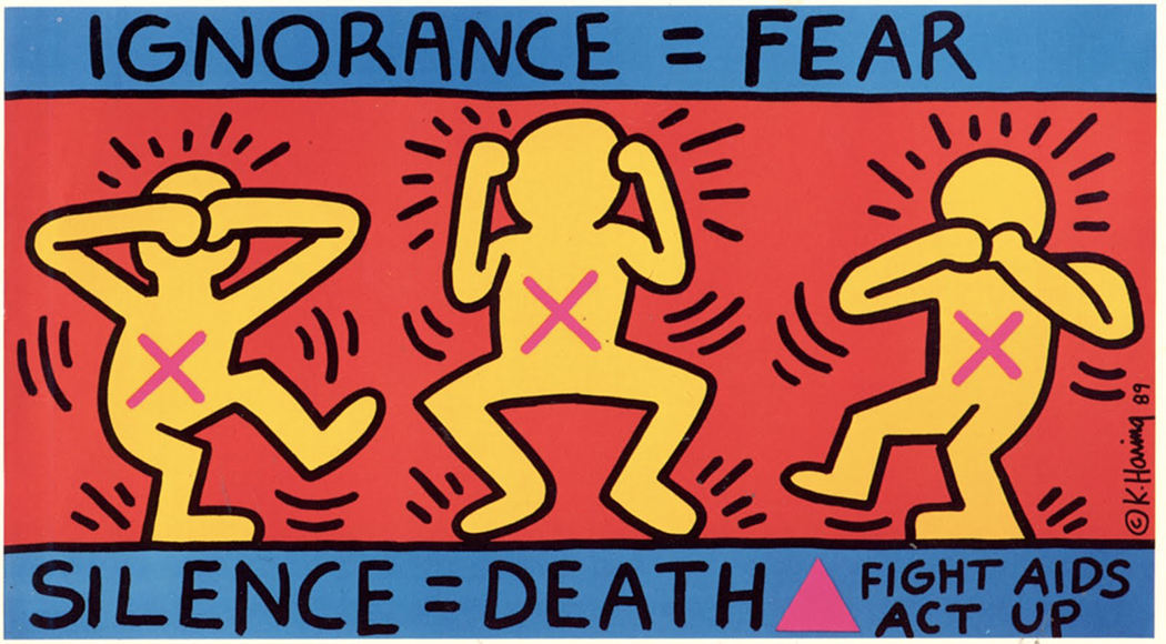 Silence = Death by Keith Harring | Art-Pie