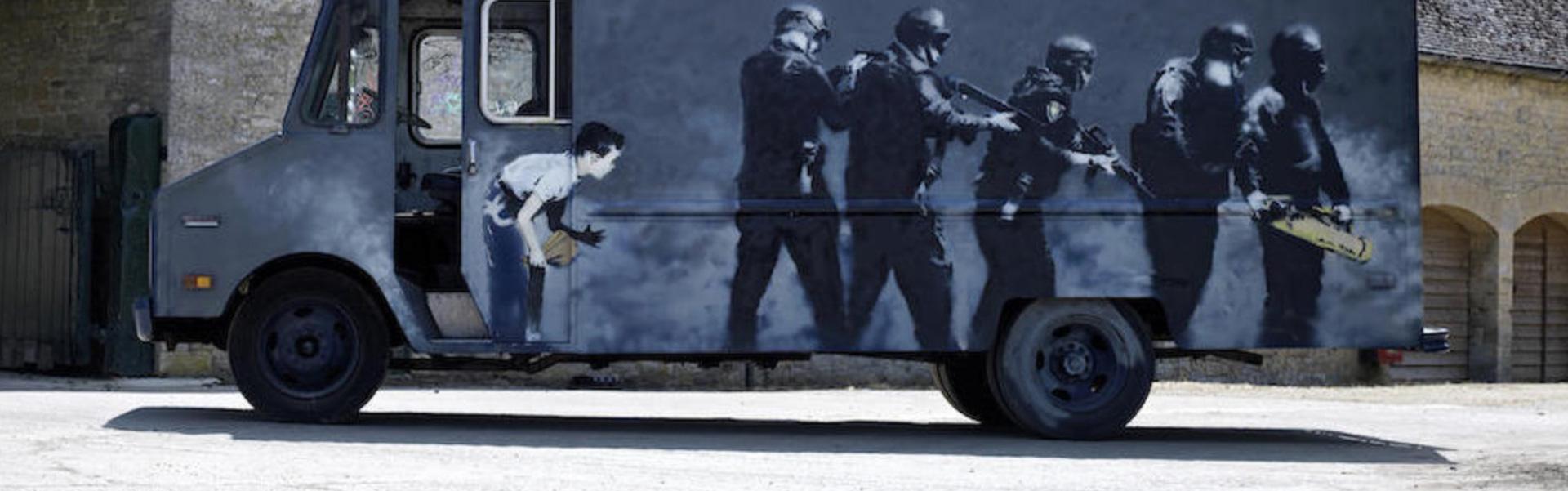 Banksy Swat Van | Art-Pie