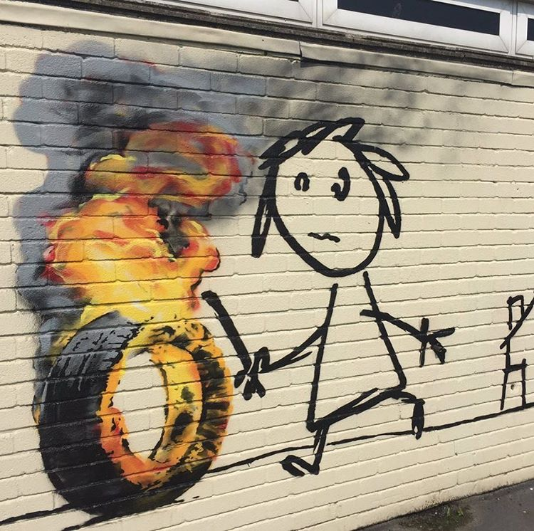 Bridge Farm School Banksy | Art-Pie