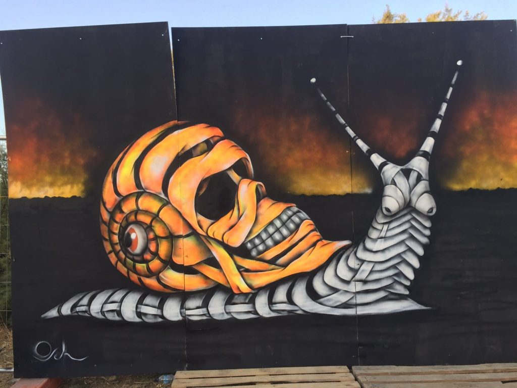 Snail's life by Otto Schade Sunscape Festival Malta | Art-Pie