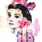 """Pink Hepburn"" by Kerry Beal   Art-Pie"