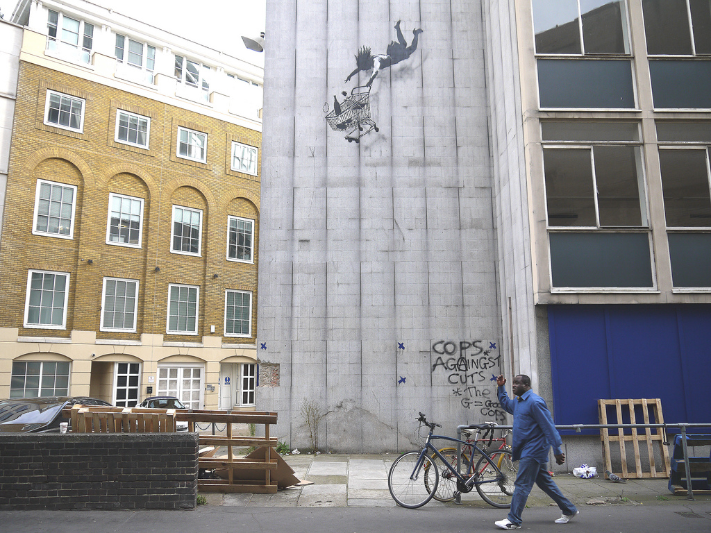 'Shop til you drop' by Banksy | Art-Pie
