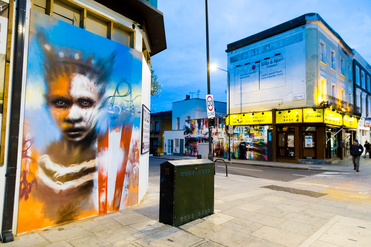 Dale Grimshaw street art on Chalk Farm London | Art-Pie